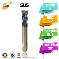 Solid Carbide Square End Mill for Stainless Steel,4 flutes end mills for stainless steel mill end yarns