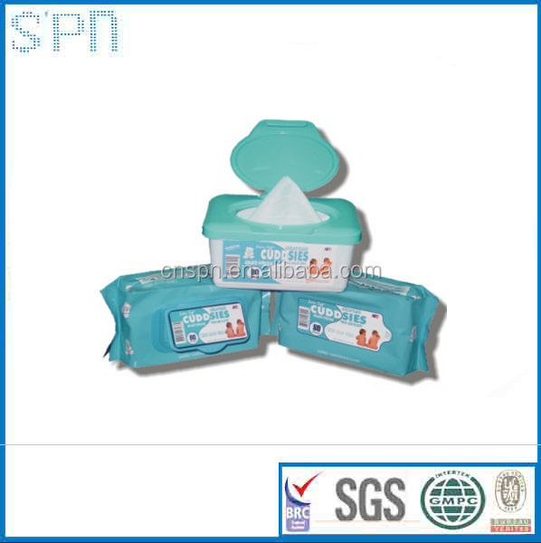 Best selling plastic wipes case scented baby Wipes