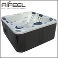 Freestanding acrylic massage Balboa rectangular small Outdoor Spas 5 person hot tub