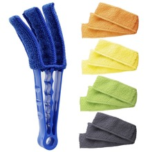 Window Blind Cleaner Duster Brush with 5 Microfiber Sleeves - Blind Cleaner Tools for Window Blinds Air Conditioner Jalousie Dus