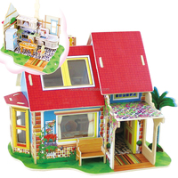Kitchen mini DIY wooden doll house furniture