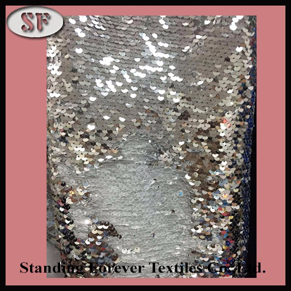 two color reversible sequin fabric two way color sequin fabric two side color wholesale sequin fabric
