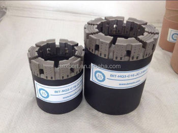 16mm 25mm crown height HQ Window waterway impregnated diamond core drill bit