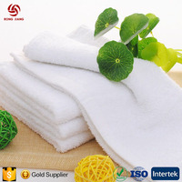 Factory outlets supply hotels, hotels, bathing onetime white towel 60g single yarn 21 soft water absorption