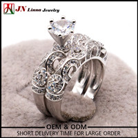 NYHR122 European Style 3.8g engagement wedding ring 925 silver cz ring