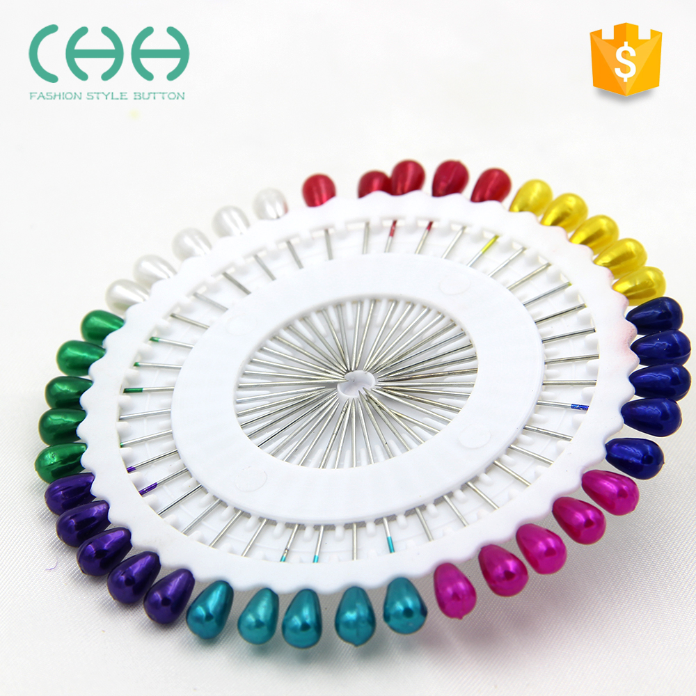 Wholesale fashion round cheap home color pearl head pin