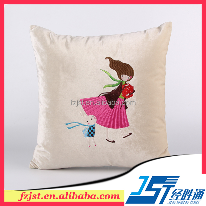 Chinese embroidered velvet cushion cover pillow cover hand embroidery design