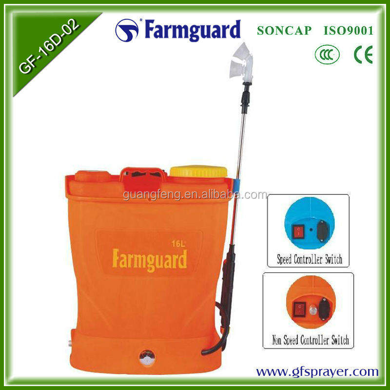 electric backpack sprayer power sprayer parts high pressure electric garden sprayer