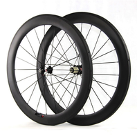 Super lightweight tubular cycling carbon wheelset 60mm 23mm wide basalt brake surface bicycle wheels