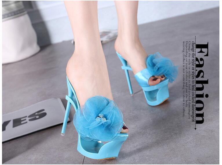 2018 Hot Sale New Arrive Flowers Women Sandals Platform Summer High Heels Sandals Lady Women Shoes
