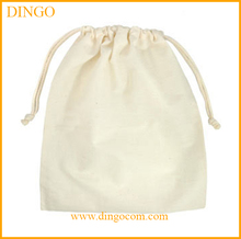 Small cotton drawstring bags printing jewelry pouches