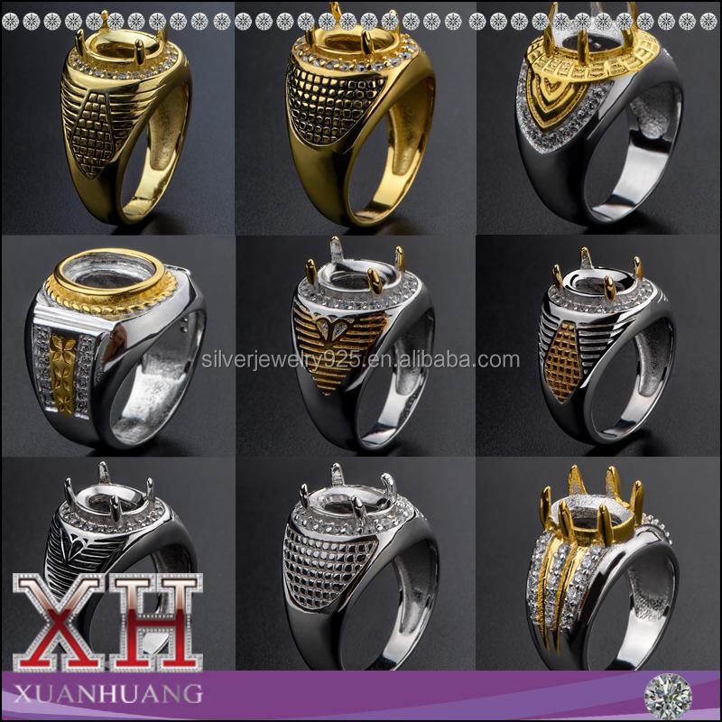 Hight Quality Saudi Arabia Style Big Diamond Ring for Men, View ...