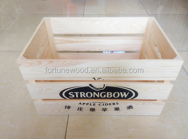 Pine wood big crates for vegetables