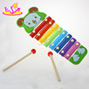 Kids Best choice mini wooden xylophone music notes,8 Keys Glockenspiel,Top quality kids wooden music instrument set W07C034