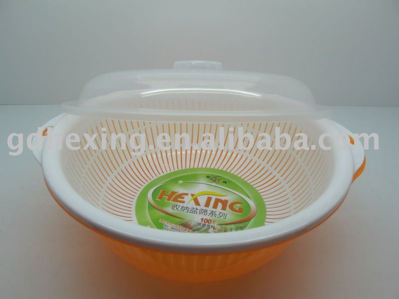 plastic storage basket with basin and cover 32cm