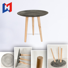 funny design small round wood tea table for home/coffee shop