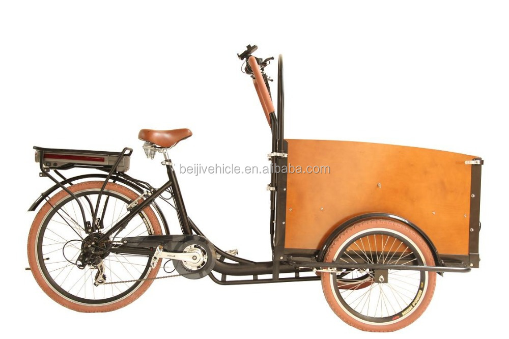 Dutch style steel frame family cargo used electric recumbent trike