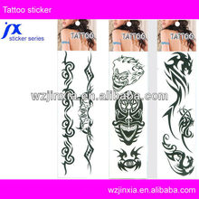 Custom designs Safe body skin temporary tattoo sticker