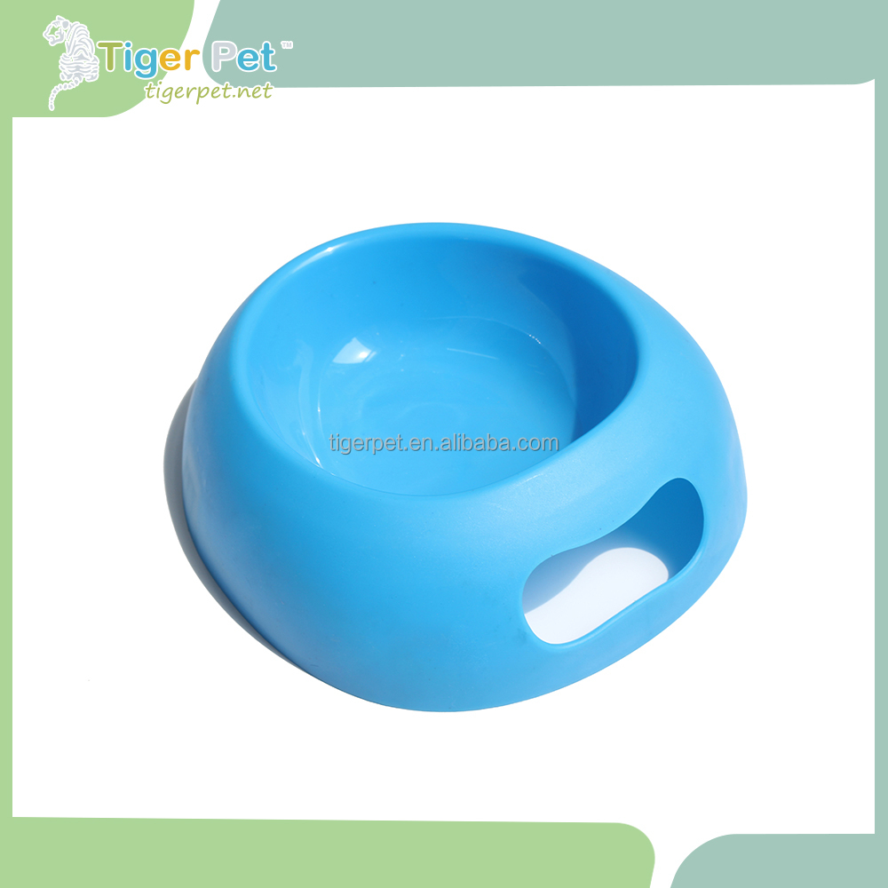 Pet Feeding round eco friendly stainless steel dog bowl with holding brackets