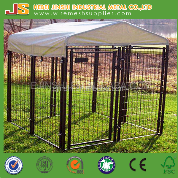 5 ft x10 ft x 6 ft Easy install welded wire large Outdoor Dog kennel