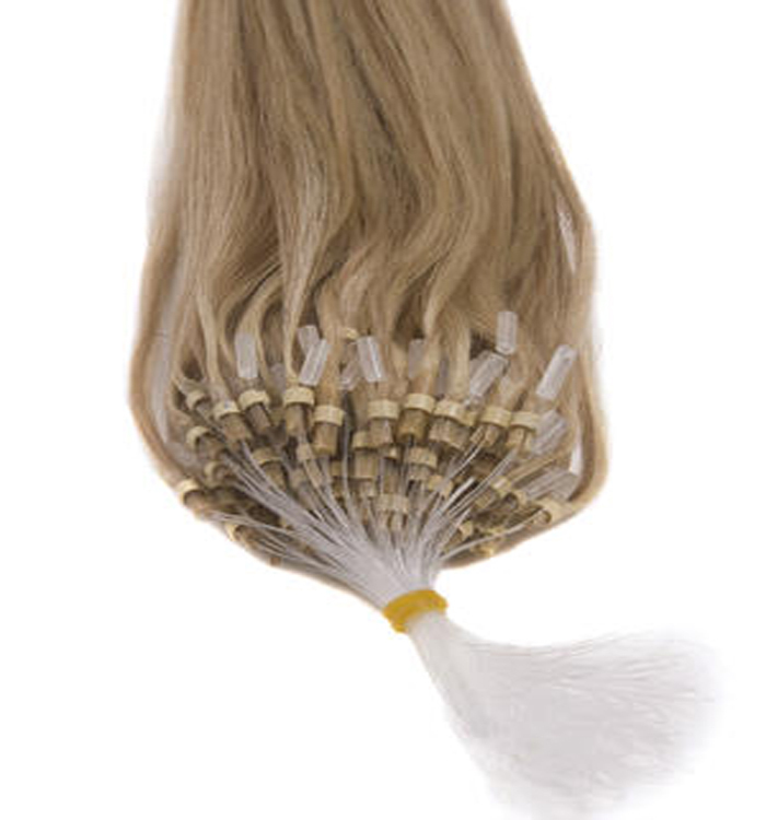 "26"" micro loop human hair extensions"