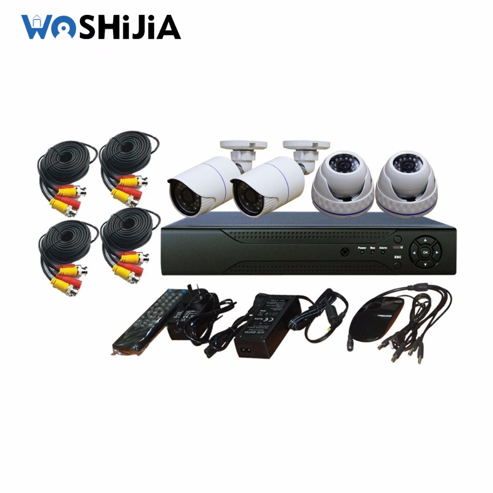 4 Ch Video DVR Kit Home Security HD 1080P AHD KIT h.264 network dvr video surveillance system
