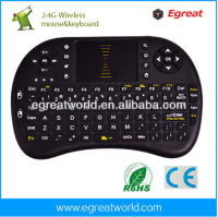 Egreat AK81 wireless keyboard for android smart TV box mini pc tablet keypa air mouse