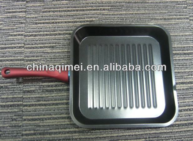carbon steel non stick BBQ / grill pan marble coating
