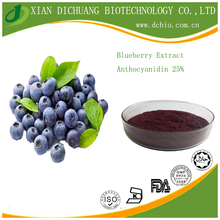High quality factory supply Blueberry Extract 25% Anthocyanidins