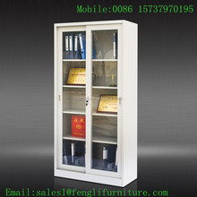 Modern glass door office furniture / office display rack / steel filing cabinet