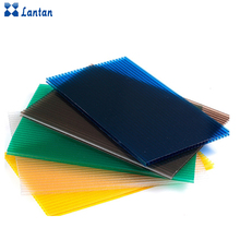 Wholesale all sizes and color PC triple wall hollow sheet for roofing
