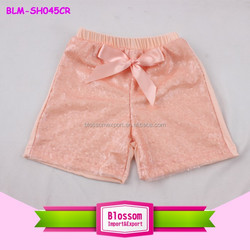 Summer Shiny Fashion Newest Design Baby Girl Peach Sequin Shorts & Pants Little Boy Sparkling Shorts Newborn Baby Sequin Short