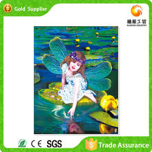 Beautiful hot sell canvas paddle angel diy painting with oil painting manufacturer