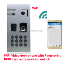 Newest Home Security Wifi Doorbell Camera with Multi Unlocking System including Password Unlock,Fingerprint,RFID Card and App