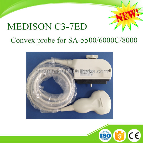 CE Approved C3-7ED Convex Probe for Ultrasound Medison 8000