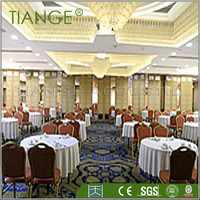 Rolling wooden construction material sound proof partition wall