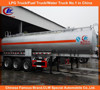 Heavy duty Aluminum alloy fuel tank truck trailer 3 axle oil tank truck trailer stainless steel fuel tank trailer