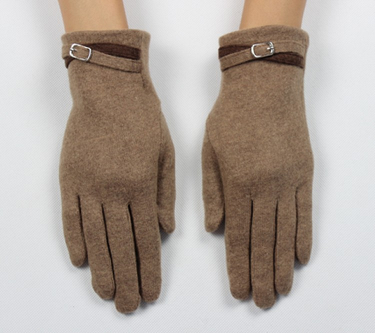 New 2016 Fashion Winter Touch Screen Wool Gloves For Women