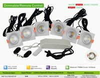 China supplier 54W 6P COB LED dimmable downlight sets SAA/CE/RoHs