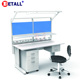 Dental lab bench workstation with movable cabinet