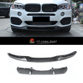 2013-2015 X5 F15 M-Performence Style Carbon Fiber Front Lips&Rear Diffuser FORBMWW BODY KIT PARTS