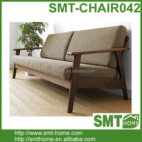 Solid Wood Oak Living Room Bench Wood Relaxing Chair Design