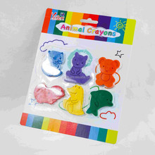 2015 Hot Sale 6 Color Creattive Crayon Wax Crayon Non-toxic Animal Shaped Crayopn
