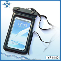 PVC dry mobile phone bag waterproof cellphone bag with inflatable bag
