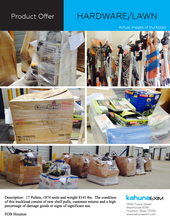 Stocklots Liquidation Auto Parts Electronics Clothing Sporting Goods Home Garden