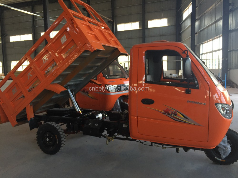High quality heavy duty cargo dump 3 wheel motorcycle three wheel dumper trike Closed Carriage Tricycle Car for cargo