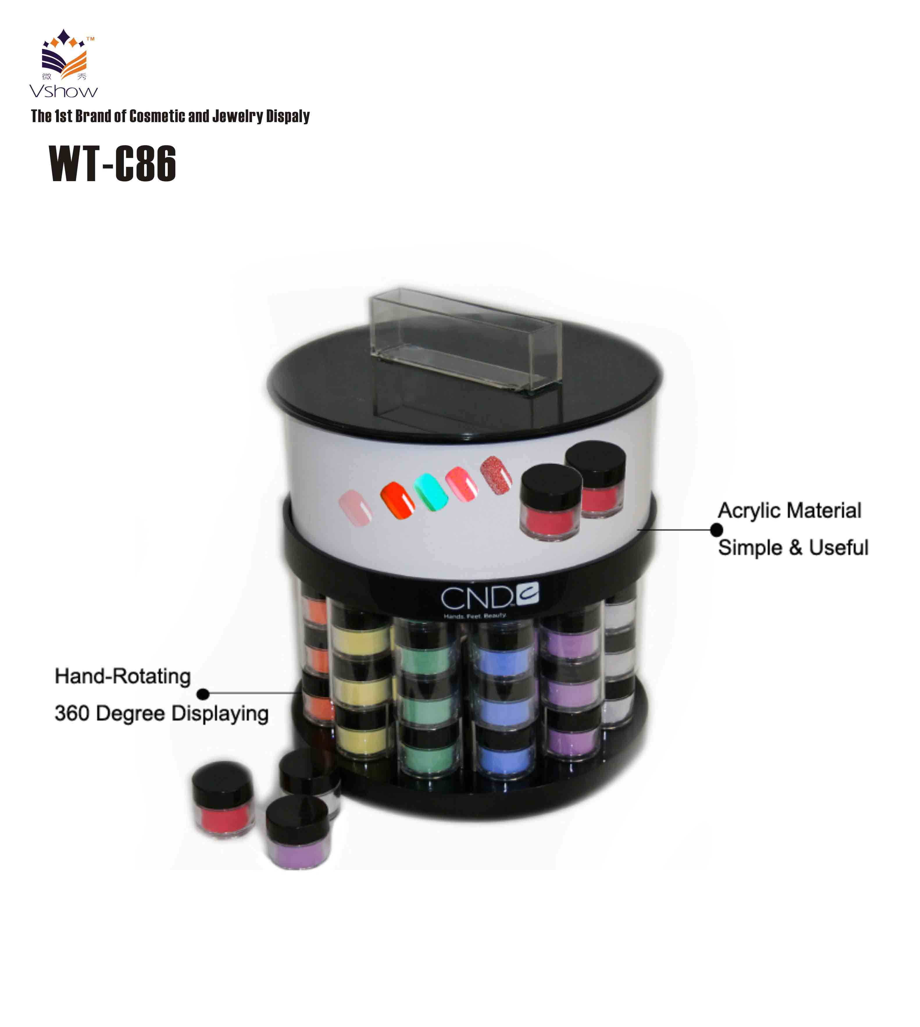 High Quality round design cosmetic display Counter Design