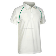 New Model Cricket Jersey Color Uniforms Mens Short Sleeve 100% Polyester Plain White Cricket Shirt Uniforms