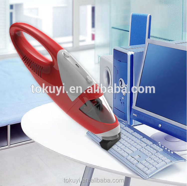 Cordless hand held mini vacuum cleaner for computer
