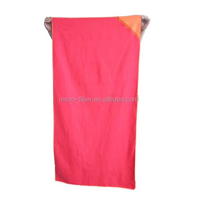 wholesale quick drying sports microfibre beach towel with mesh bag